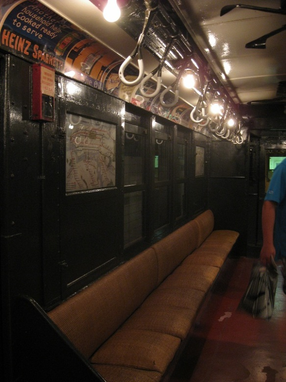 Historic subway carriage