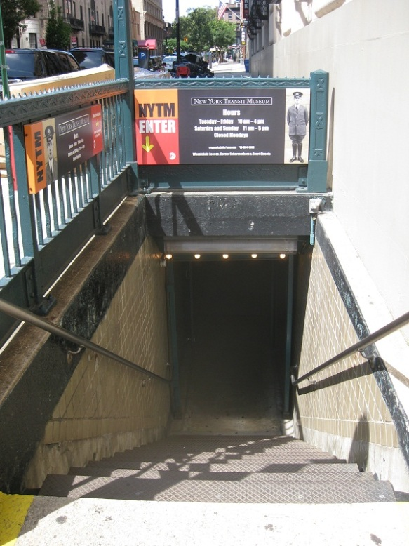 Entrance to the NY transit museum