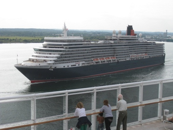 The Queen Elizabeth in the Solent