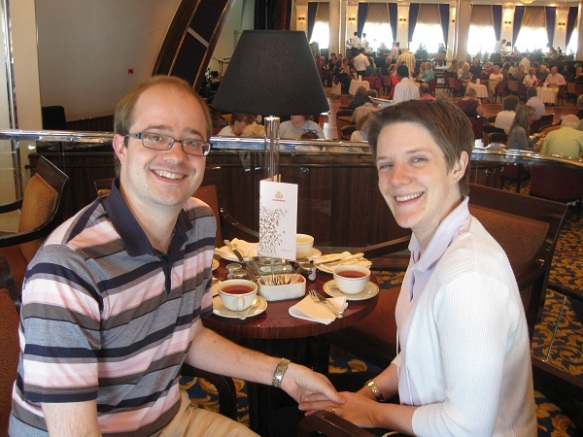 Afternoon tea aboard the QM2