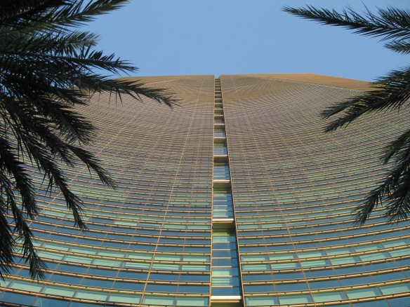 looking up at the Conrad hotel, Miami