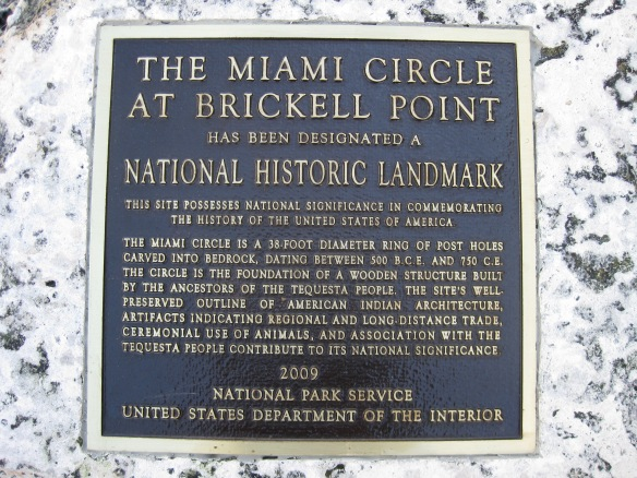 sign describing the Miami circle
