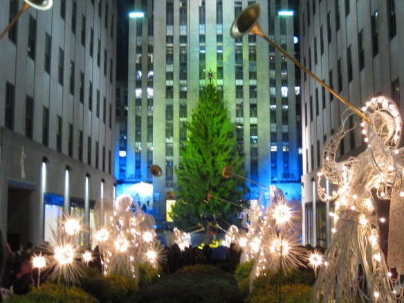 Rockefeller Plaza tree and angels