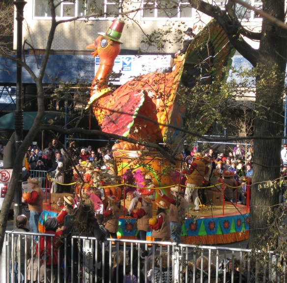 float in the Macy's Thanksgiving parade