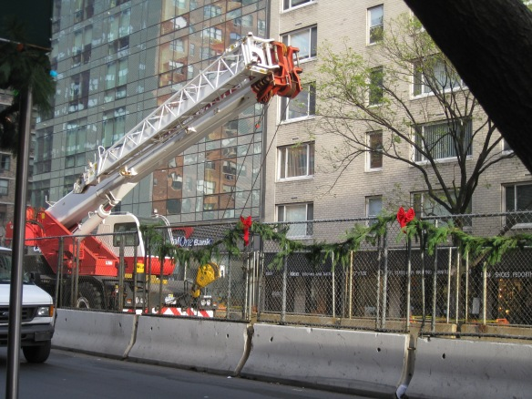 2nd avenue subway works with acced festive decorations