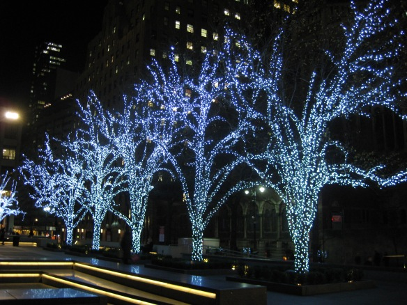 trees by St Barts on Park Ave