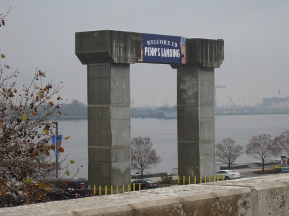Concrete arch at the Penn's Landing site