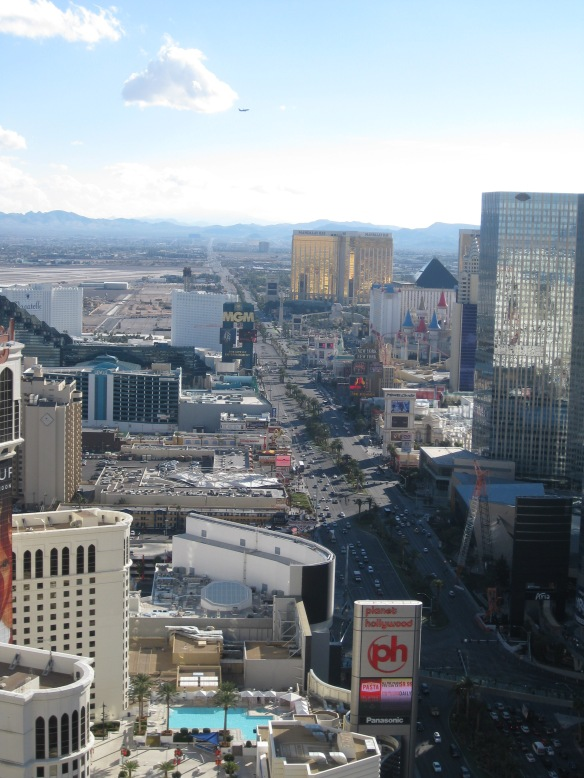 the southern end of the Vegas strip