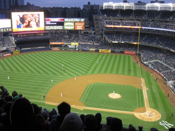 baseball at Yankee Stadium