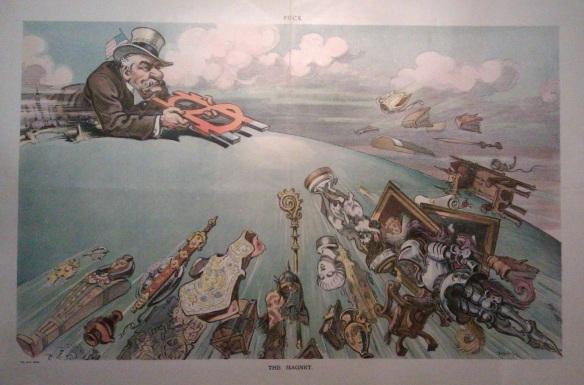 "Cartoon of J.P. Morgan ""The Magnet"""