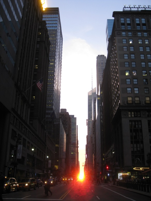 Manhattanhenge on 42nd street