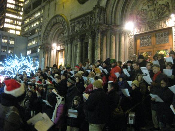 carols on the steps