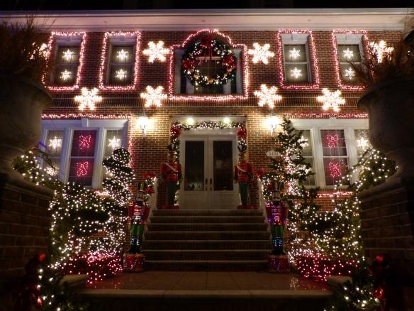 sparkly Christmas house