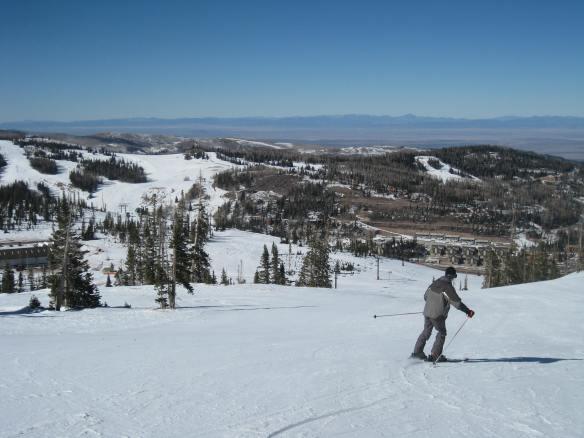 Tom skiing at Brian Head