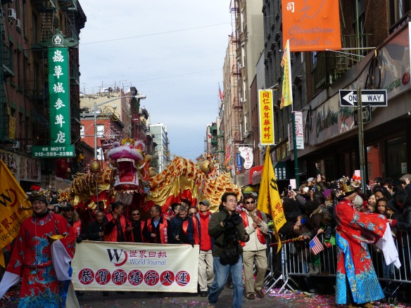 Dragon in Chinese New Year parade 2014