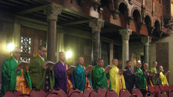 Buddhist chant at St Bart's