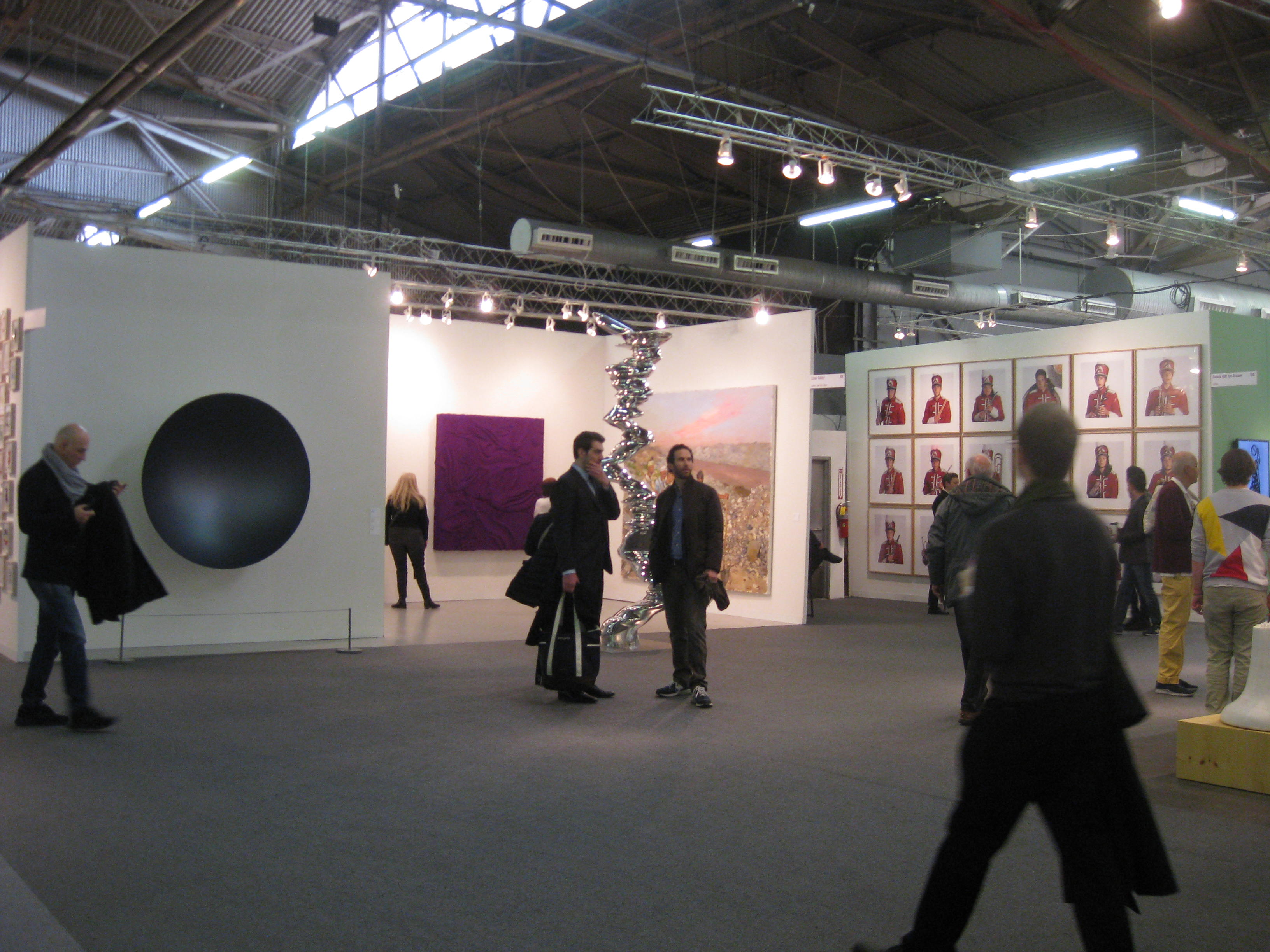 Getting our art on at the armory leaves from the big apple - The armory show tickets ...