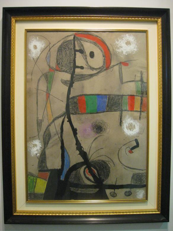 """Miro """"Femme, oiseaux (oiseaux dans la nuit)"""" 1975"""