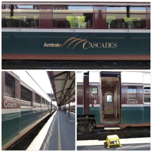 Cascades train at Portland station