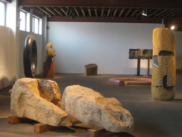 A gallery at the Noguchi Museum