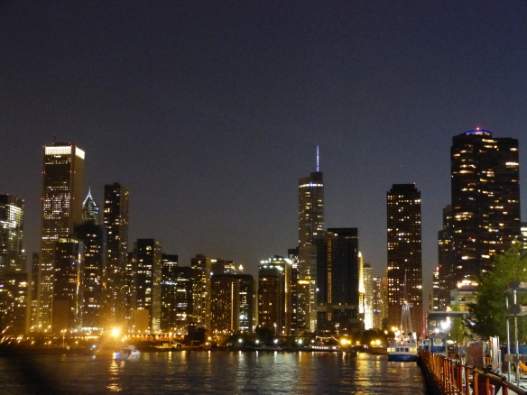 Chicago lights from Navy Pier