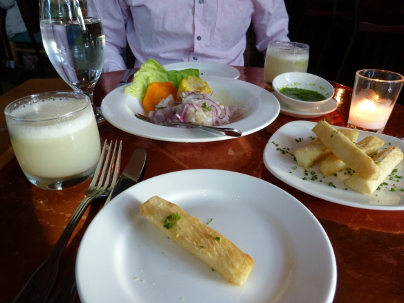 Ceviche and pisco sours!