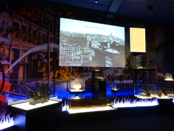 MOHAI 1889 fire exhibit