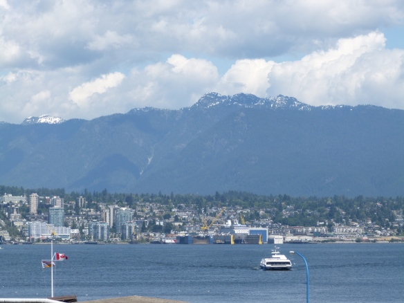 looking north across Vancouver harbour