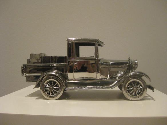 Jim Beam - Model A Ford Pick-up Truck, 1986. Stainless steel and bourbon