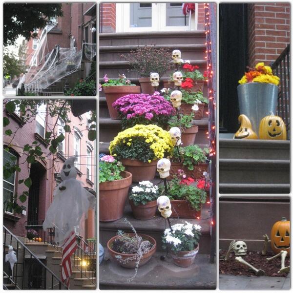 Halloween decorations on Garden St