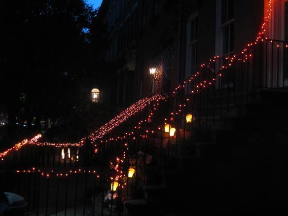 Garden street Halloween lights