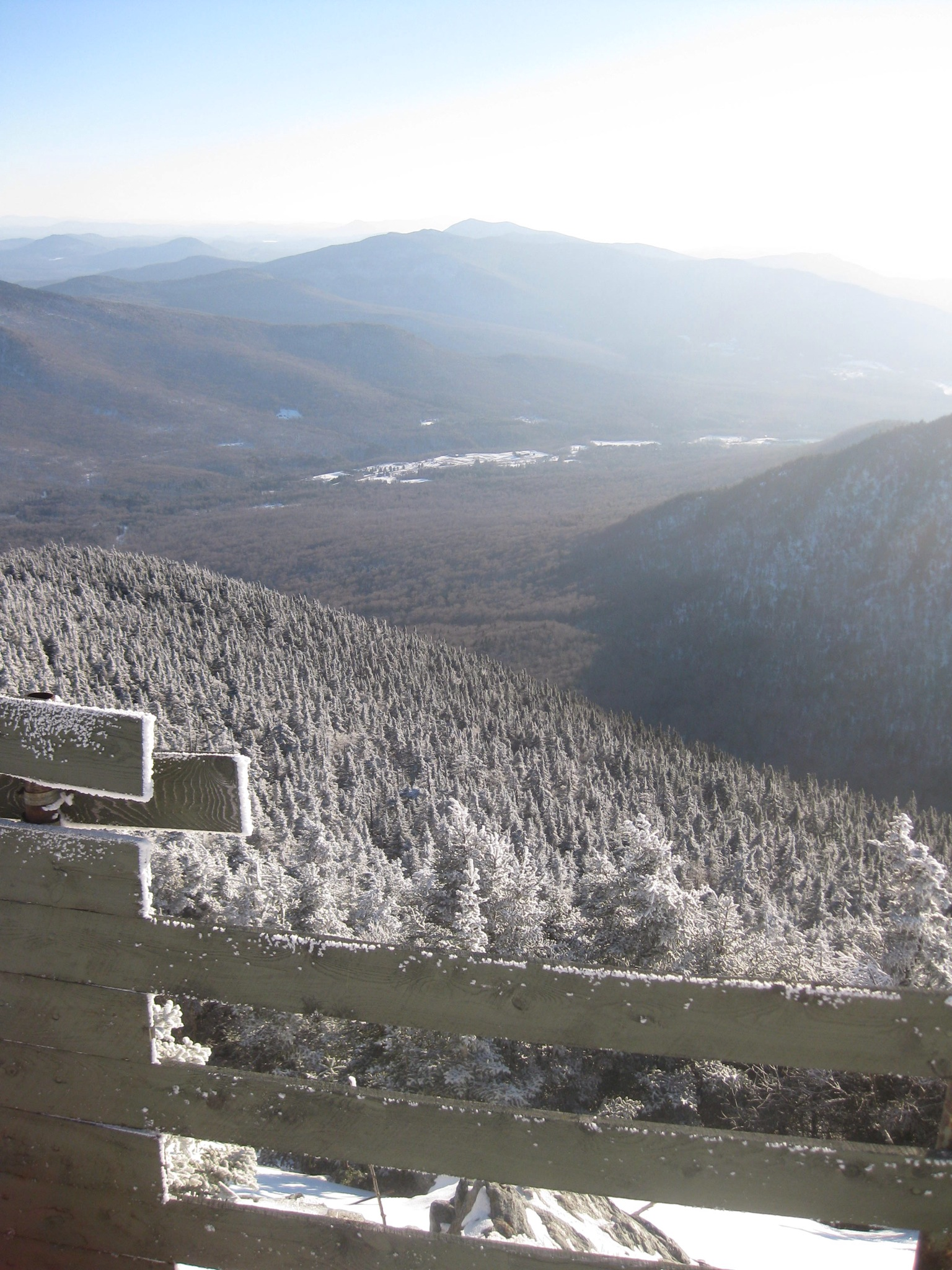 view behind Jay Peak