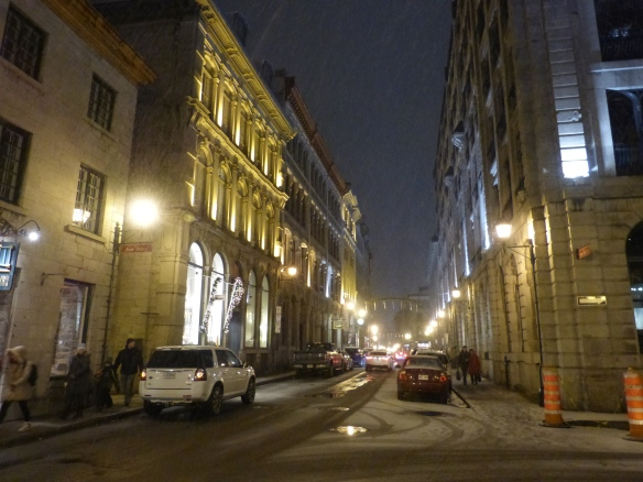 Vieux Montreal in the snow
