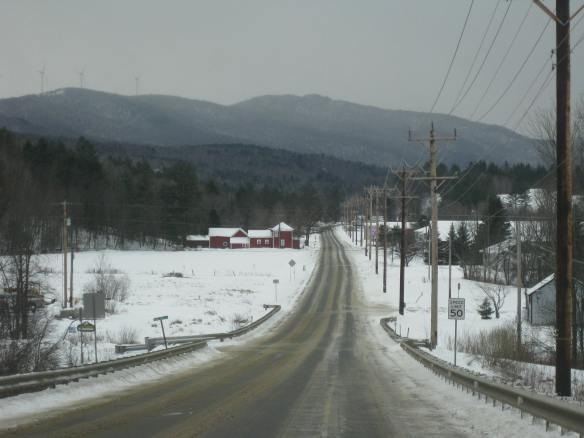 backroads in Vermont