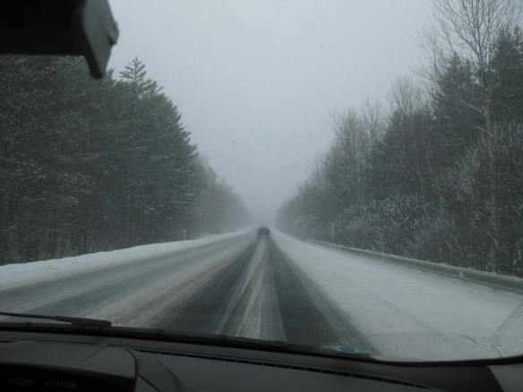 snowstorm on the interstate