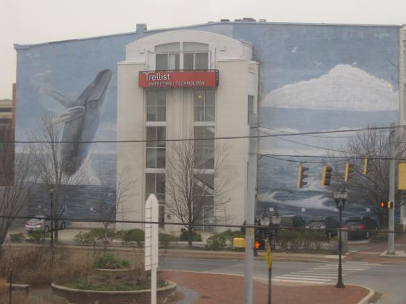 Whale mural in Wilmington