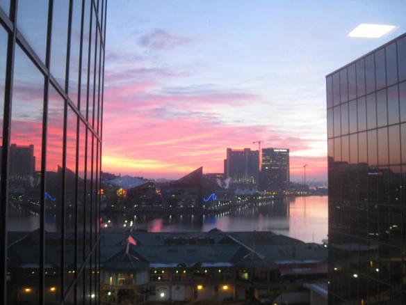 sunrise over Inner Harbor