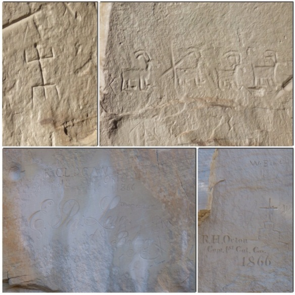 petroglyphs and other inscriptions
