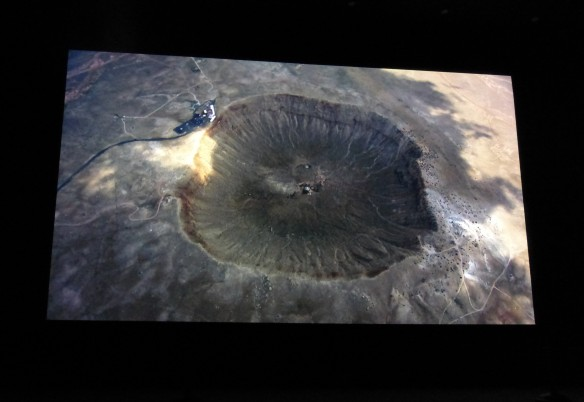 meteor crater arial photo