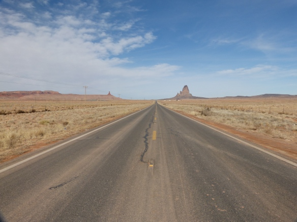 first sight of Monument Valley