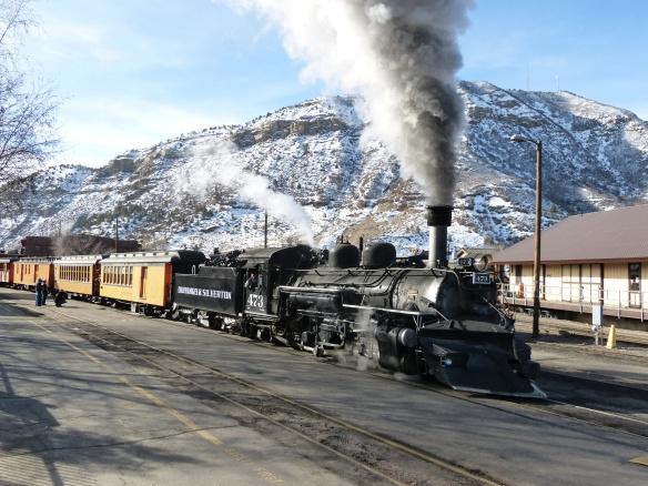 steam train in Durango