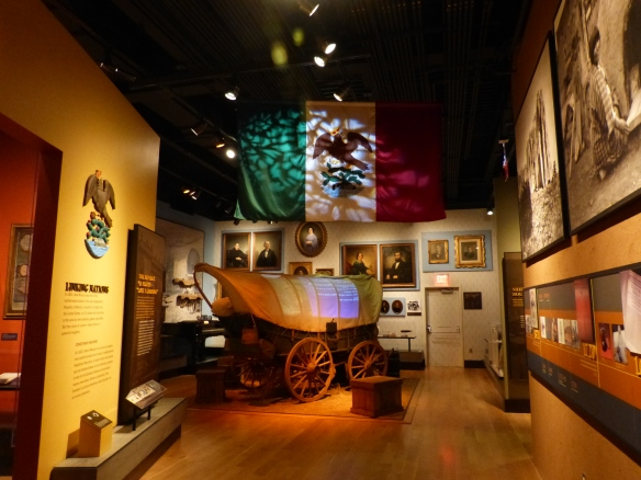 pioneer wagon at the New Mexico History Museum