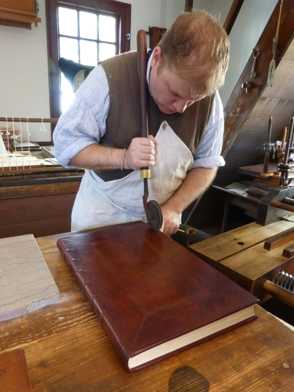 blind-tooling in the bookbindery