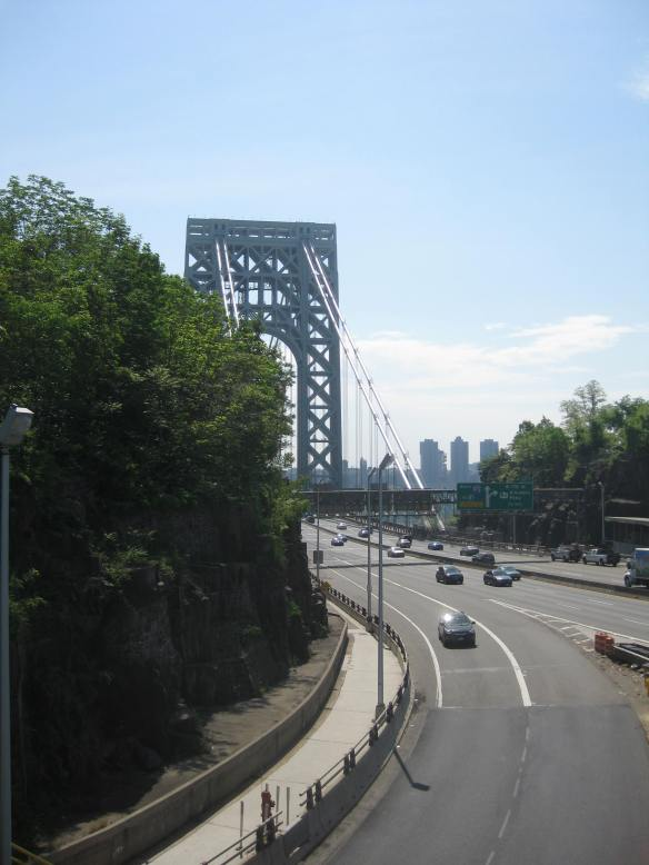 George Washington Bridge from the trailhead