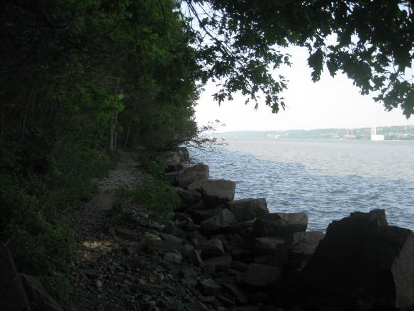 looking back along the Shore trail