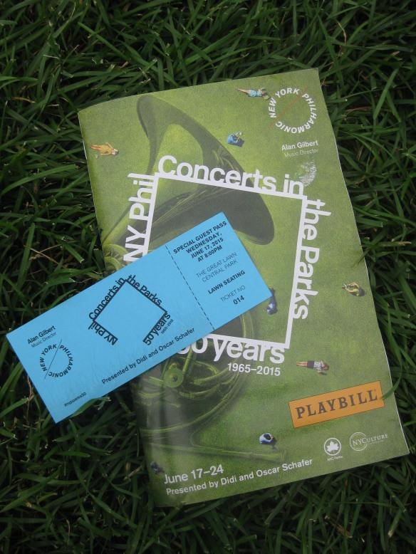 arty shot of my ticket and programme