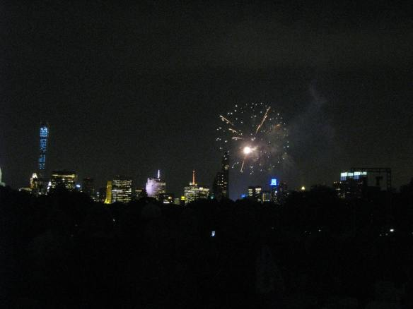 fireworks over Central Park