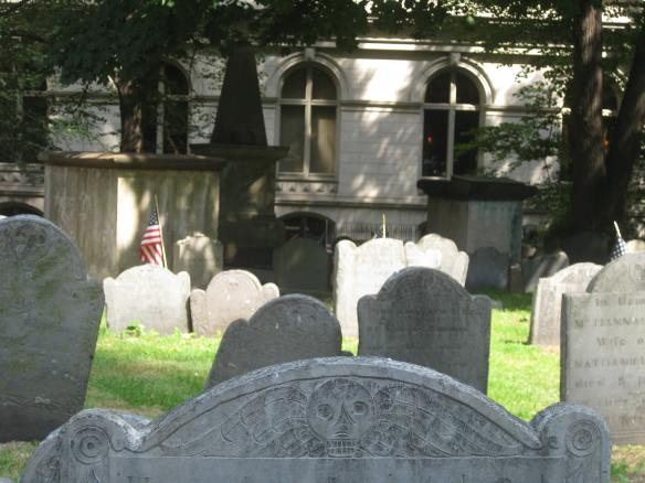 tombstones in King's Chapel burying ground