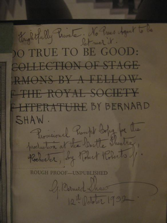 Annotated book at the New York Society Library