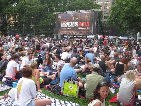 Ridiculous audience in Bryant Park